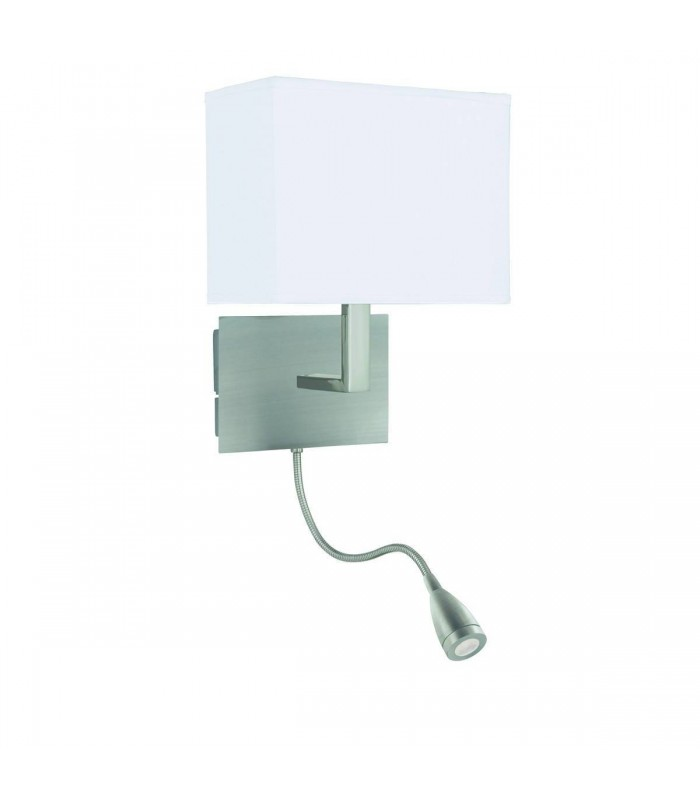 Dual Flexi Arm LED 1 Light Indoor Wall Light Satin Silver