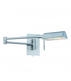1 LIGHT SATIN SILVER SWING - ARM WALL LIGHT - Searchlight 7665SS