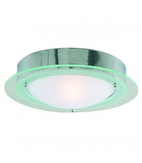 1 Light Bathroom Flush Ceiling Light Round Chrome IP44, E14