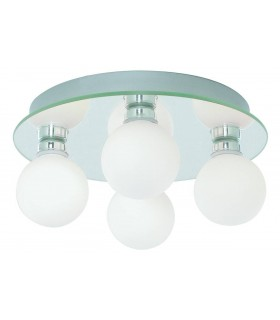 LED 4 Light Bathroom Flush Ceiling Light Round Chrome IP44