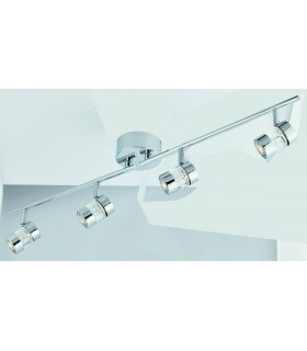 LED 4 Light Adjustable Bathroom Ceiling Spotlight Bar Chrome, Bubble Effect IP44