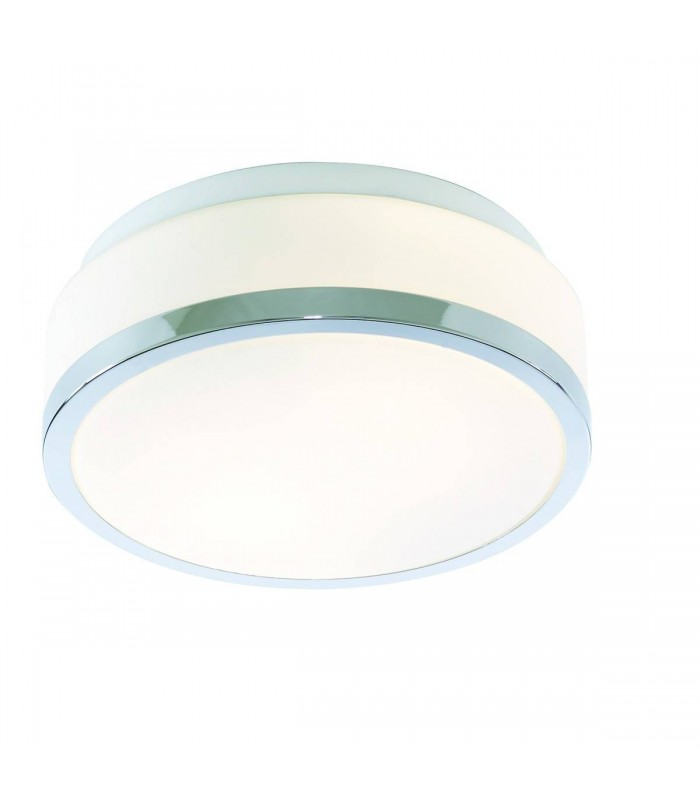 2 Light Bathroom Flush Ceiling Light Chrome IP44