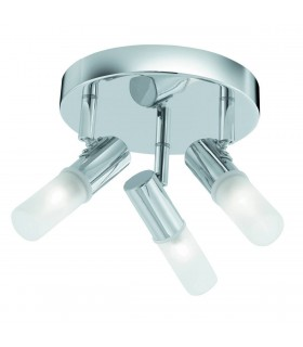 LED 3 Light Bathroom Ceiling Spotlight Chrome IP44