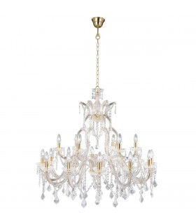 Marie Therese 18 Light Crystal Chandelier - Searchlight 1214-18