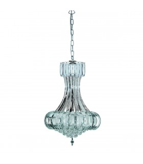 6 Light Ceiling Pendant Chandelier Chrome, E14