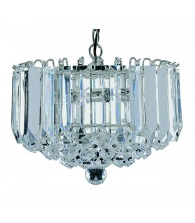 Sigma Chrome 4 Light Ceiling Pendant with Crystal Decoration - Searchlight 6715CC