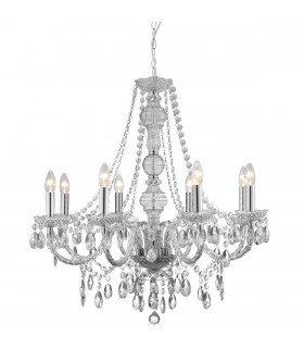 8 Light Chandelier Chrome Finish Acrylic Marie Therese