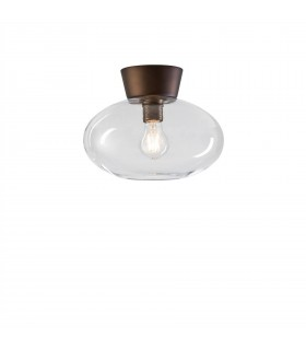 1 Light Flush Globe Ceiling Light Oxide