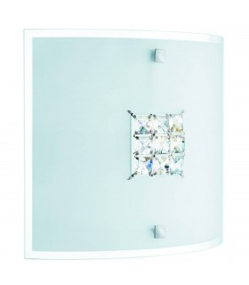 2 Light Indoor Flush Wall Light Crystal with Crystals
