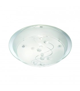 Frosted Glass 25cm Flush Ceiling Light Fixture - Searchlight 3020-25CC