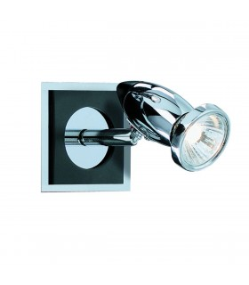 Black & Chrome Adjustable Wall Spotlight