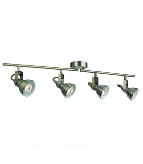 Focus 4 Light Antique Brass Adjustable Ceiling Spotlight Bar - Searchlight 1544AB