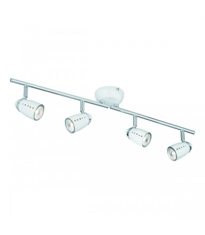 Pluto Chrome 4 Light Adjustable Spotlight Ceiling Bar - Searchlight 5764WH