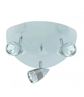 3 Light Adjustable Ceiling Spotlight Satin Silver, GU10