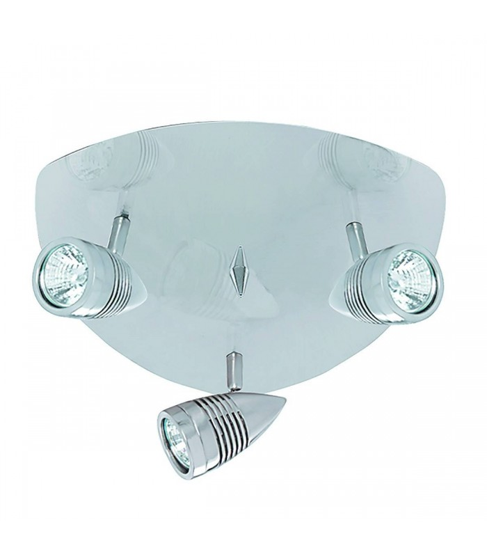 Falcon Satin Silver 3 Light Triangle Ceiling Spotlight Plate - Searchlight 693SS