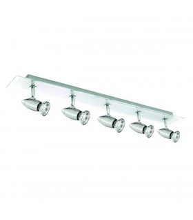 5 Light Adjustable Ceiling Spotlight Bar Chrome, GU10