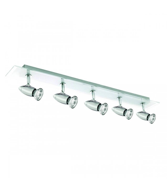 Saturn Chrome 5 Light Ceiling Adjustable Spotlight Bar - Searchlight 8765CC