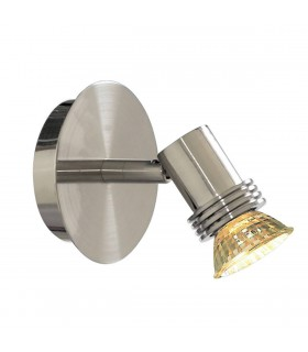 1 Light Indoor Wall Spotlight Satin Silver