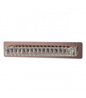 Integrated LED 1 Light Indoor Wall Light Rose Gold with Crystals