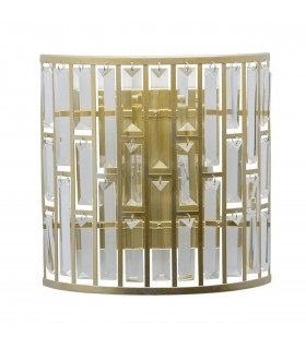 2 Light Indoor Wall Light Gold, with Crystals