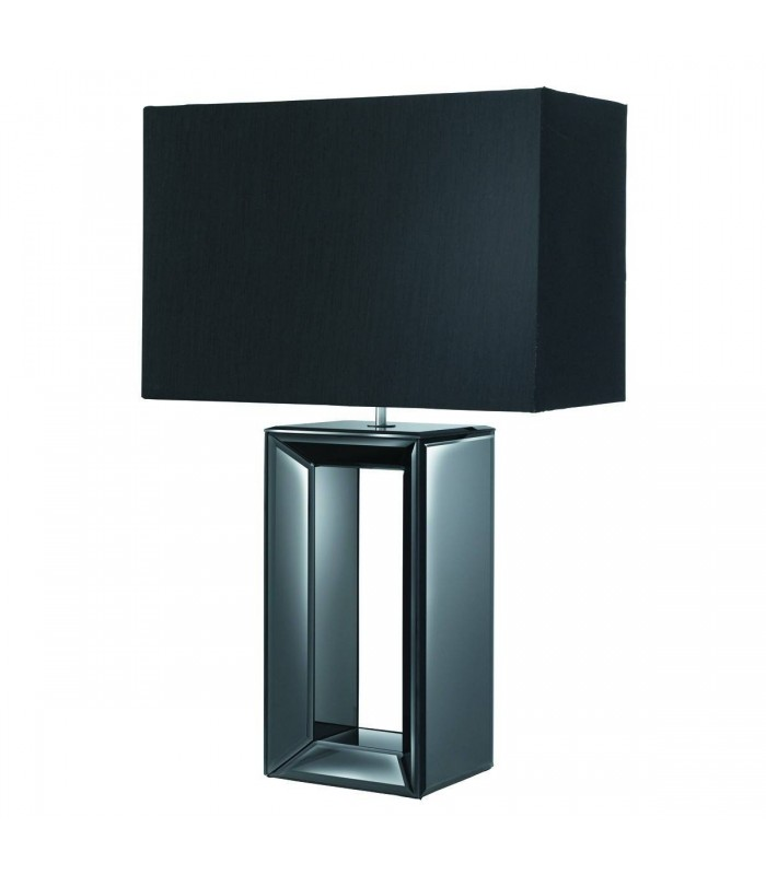 Black Mirror Reflection Table Lamp with Shade - Searchlight 1610BK