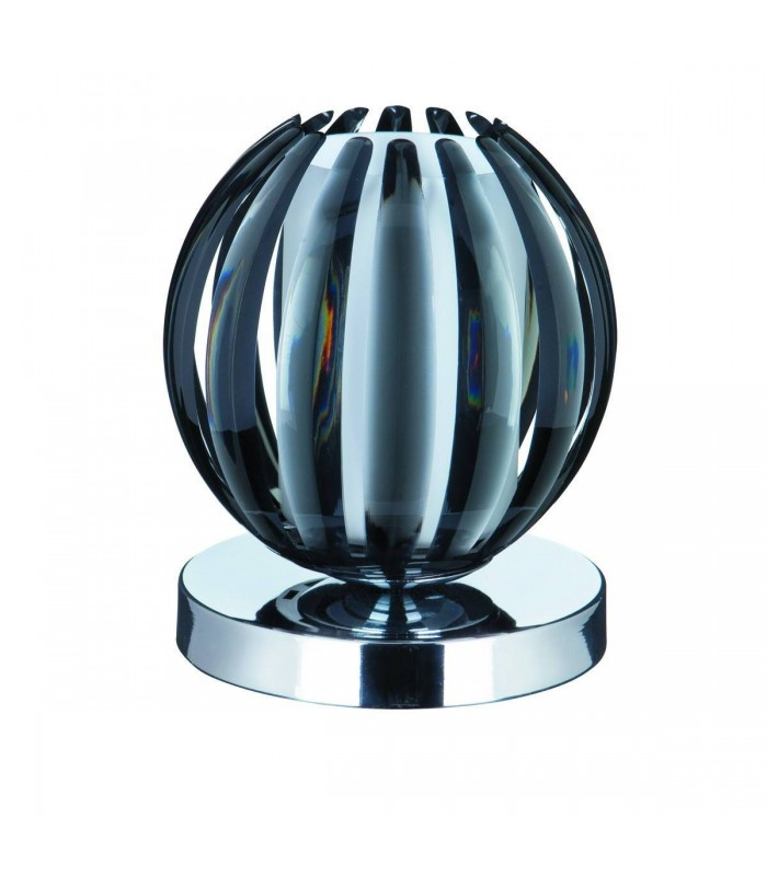 1 Light Table Touch Lamp Chrome, Smoked Acrylic with Frosted Glass