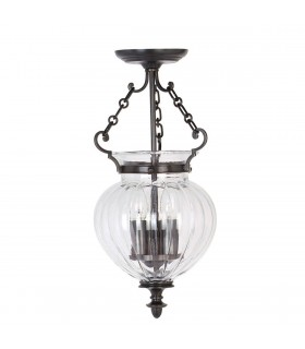 3 Light Small Ceiling Pendant Old Bronze