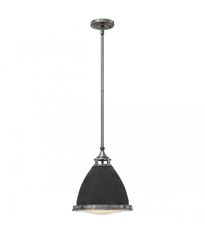 1 Light Medium Ceiling Pendant Aged Zinc