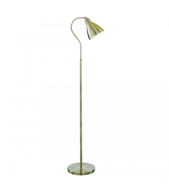 Antique Brass Adjustable Floor Lamp - Searchlight 5026AB