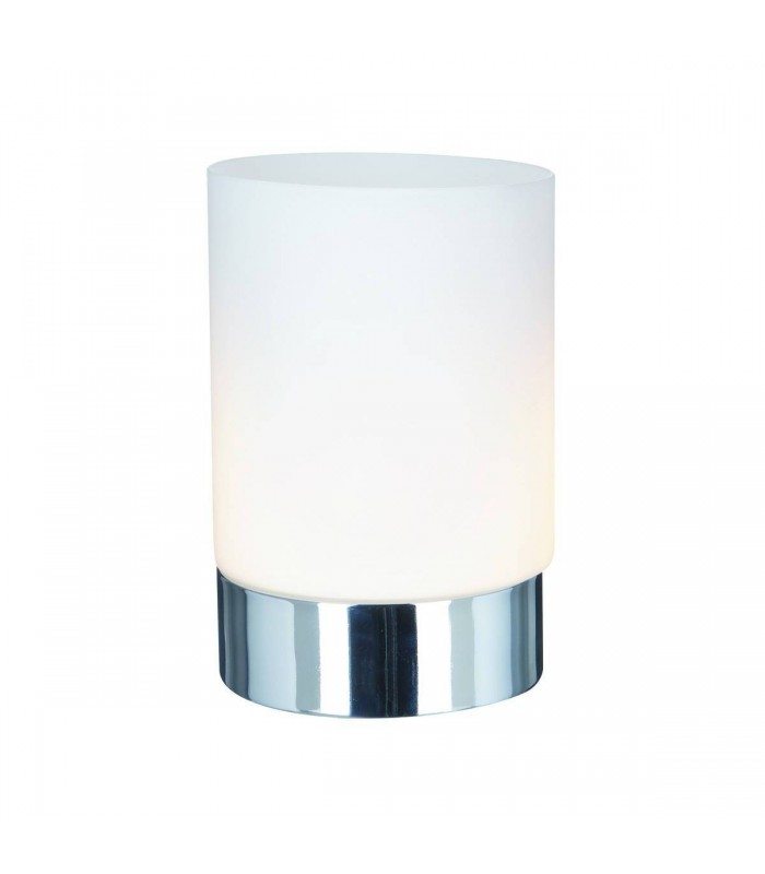 1 Light Table Touch Lamp Chrome with Opal Glass