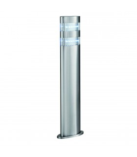 LED Outdoor Bollard Light Satin Silver, Stainless Steel IP44