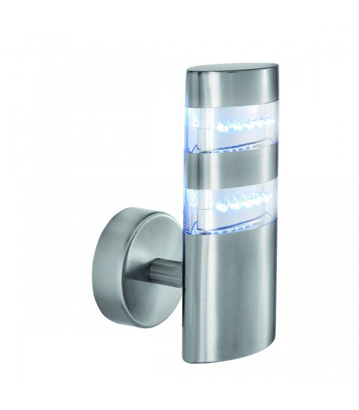 LED Outdoor Wall Light Satin Silver IP44