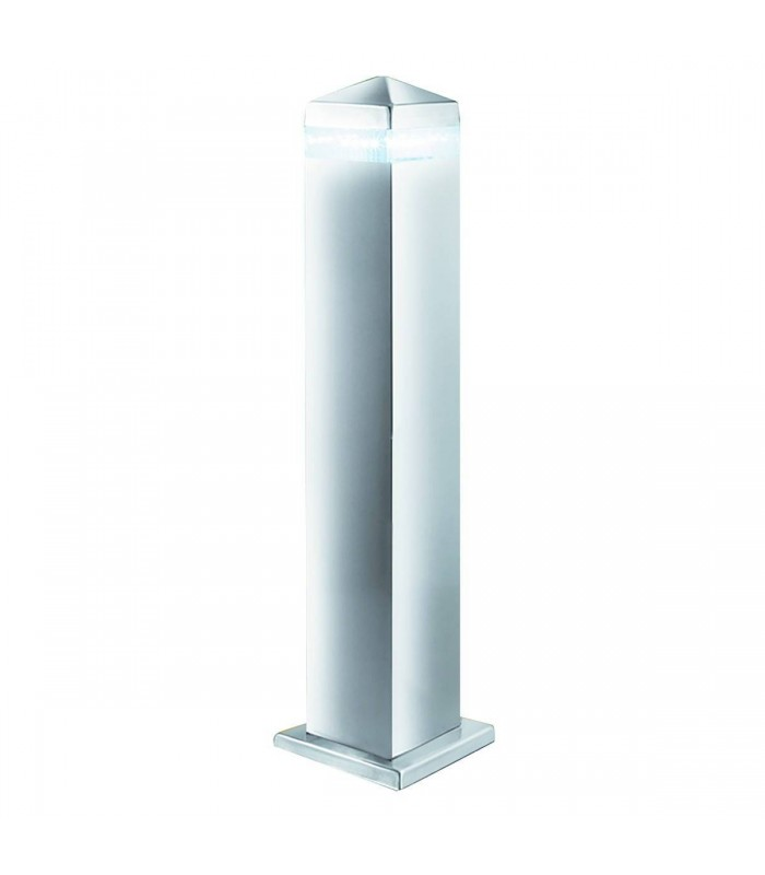 LED 16 Light Square Outdoor Post Light Satin Silver, Stainless Steel IP44