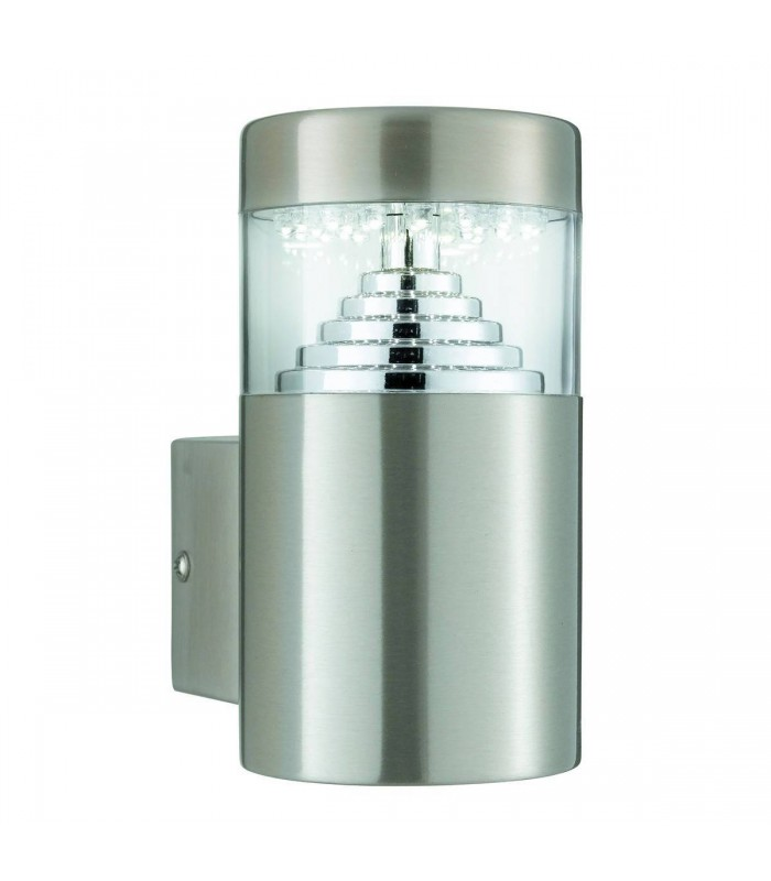Stainless Steel 30 LED Cylinder Outdoor Wall Light - Searchlight 7508