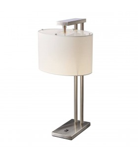 1 Light Table Lamp Brushed Nickel, E27