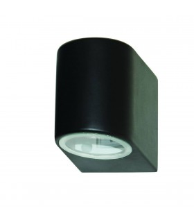 1 Light Outdoor Wall Light Black Cast Aluminium IP44, GU10
