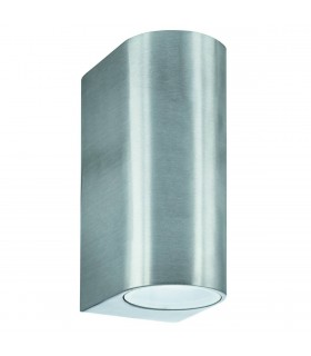 2 Light Outdoor Up Down Wall Light Cast Aluminium IP44, GU10