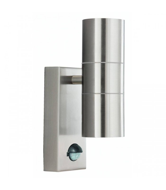 Dual Outdoor Up Down Wall 2 Light Cast Aluminium with Motion Sensor IP44, GU10