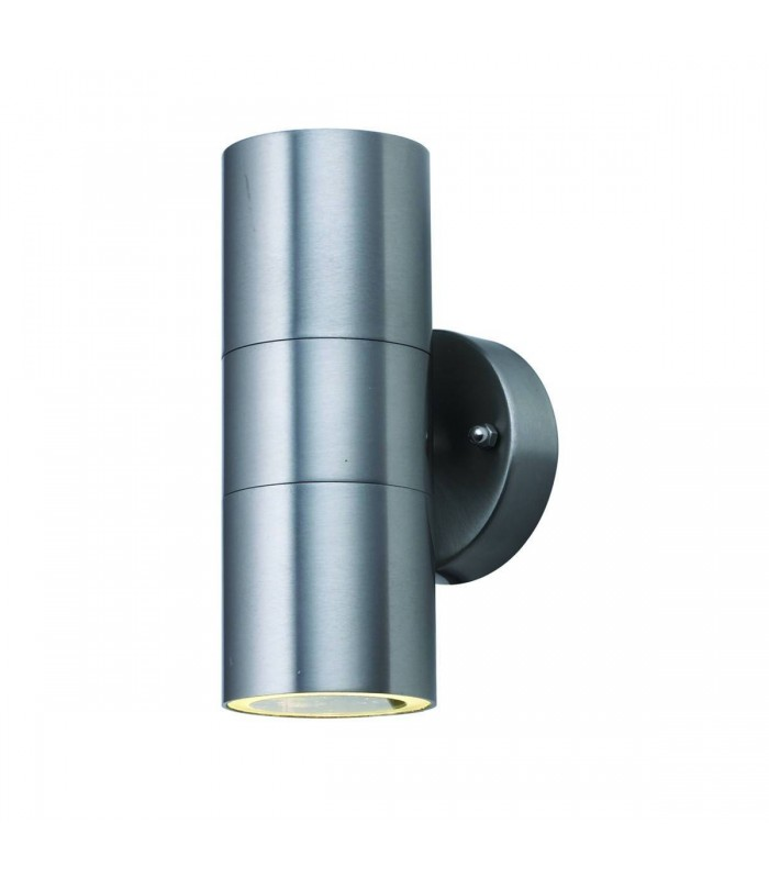 Stainless Steel Dual LED Outdoor Cylinder Wall Light
