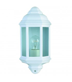 1 Light Outdoor Flush Lantern Light White IP44