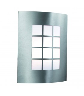 Stainless Steel Curved Outdoor Garden Wall Light - Searchlight 3140SS