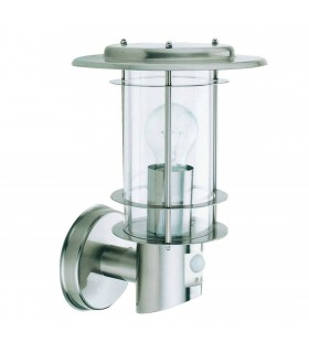 Stainless Steel Outdoor Wall Light with Motion Sensor - Searchlight 6211