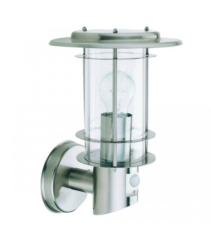 1 Light Outdoor Wall Light Stainless Steel with Motion Sensor IP44