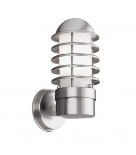 Stainless Steel Cage Outdoor Garden Wall Light - Searchlight 051