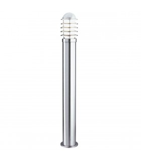 1 Light Outdoor Bollard Light Stainless Steel with Polycarbonate Diffuser IP44, E27