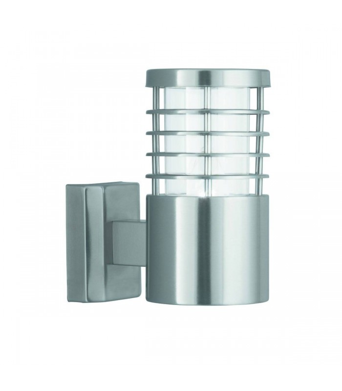 Satin Silver Cage Outdoor Garden Wall Light - Searchlight 1555SS