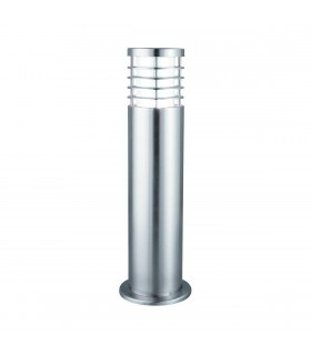 1 Light Outdoor Bollard Light Satin Silver IP44