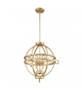 3 Light Globe Spherical Ceiling Pendant Gold, E14