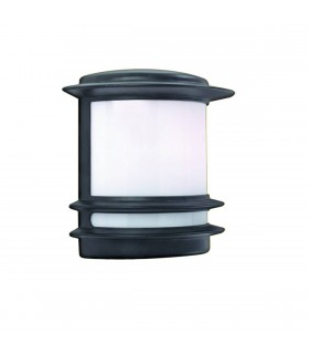 1 Light Outdoor Garden Wall Light Black IP44, E27