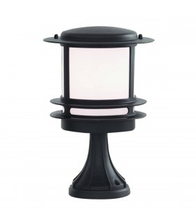 Black Outdoor Pedestal Light, E27